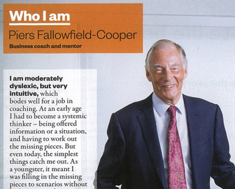 Who am I? Piers Fallowfield-Cooper